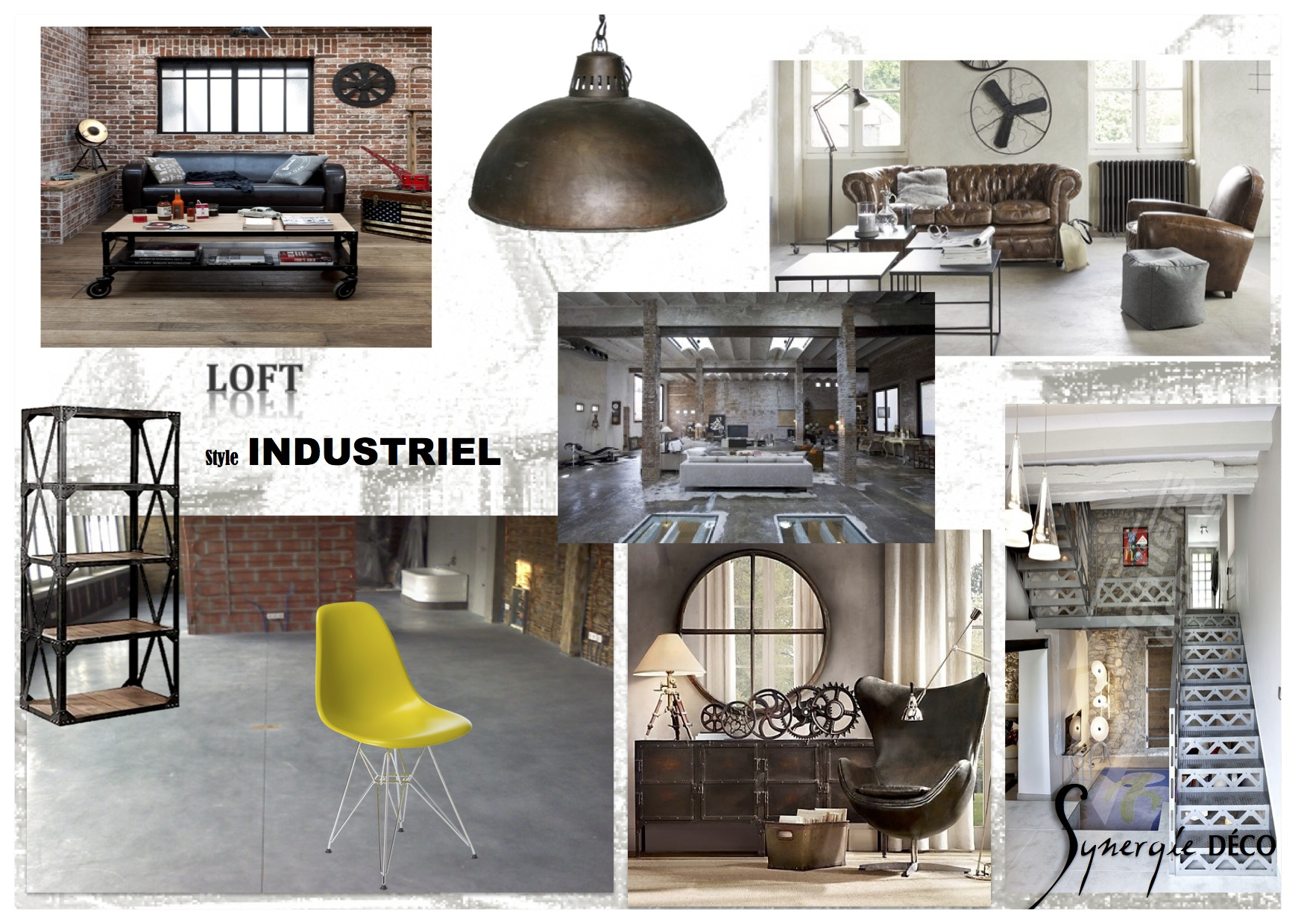 Planche Ambiance Style Industriel Exemple Tendance