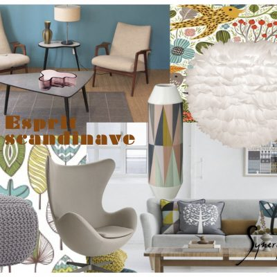 planche tendance scandinave, par synergie Déco, agencement et décoration d'intérieur