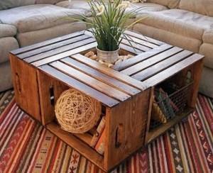 DIY: une table basse en caisses de bois, à vous de jouer!
