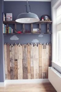 Une bonne idée pour une chambre d'enfants: une ville en bois!