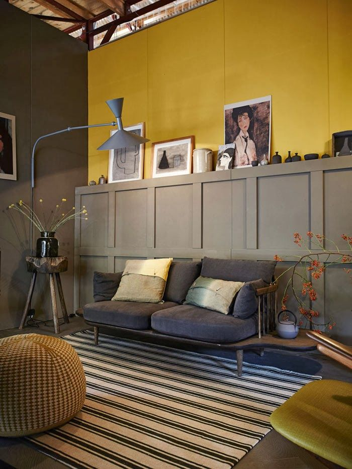 La couleur dans la d co synergie d co for Mustard living room ideas
