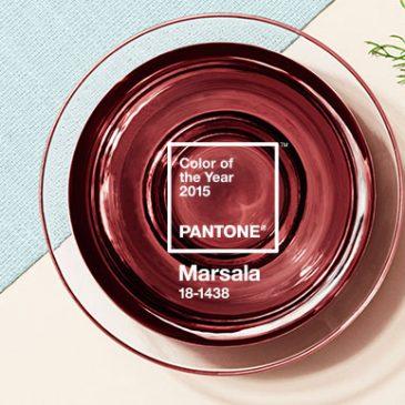 La couleur Pantone 2015: Marsala