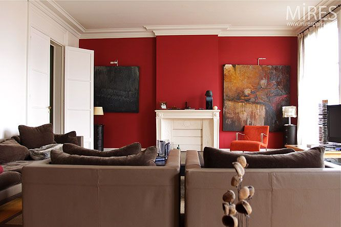 inspiration la couleur rouge synergie d co. Black Bedroom Furniture Sets. Home Design Ideas
