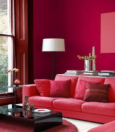 inspiration la couleur rouge synergie d co. Black Bedroom Furniture Sets. Home Design Ideas