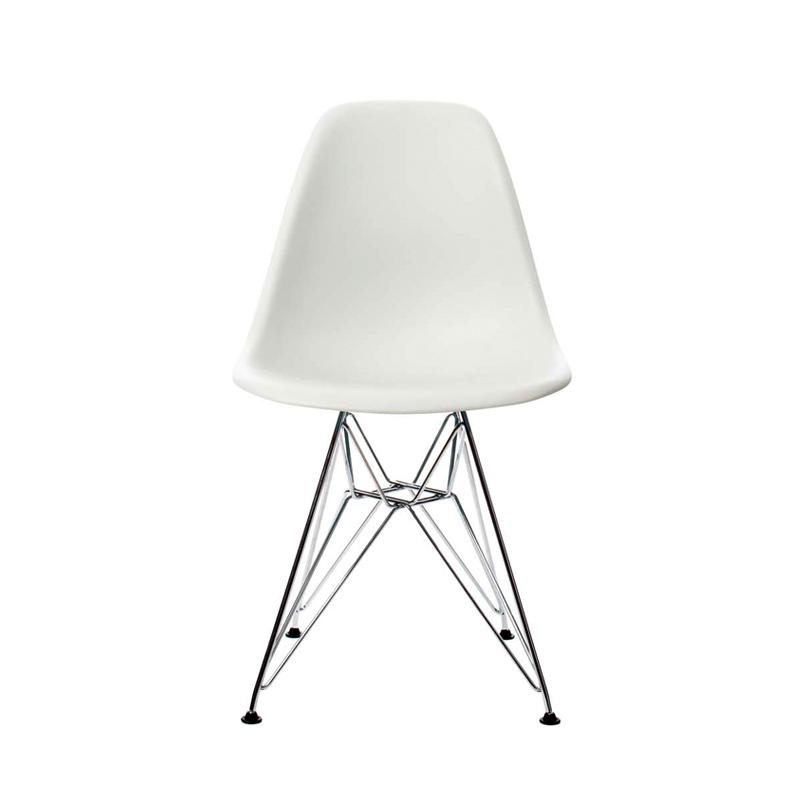 Chaise Plastic Chair Dsr Pied Tour Eiffel Blanc Vitra Eames