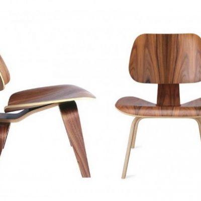 La Eames Lounge Chair Wood (LCW) (aussi appelée Low Chair Wood ou Eames Plywood Lounge Chair)