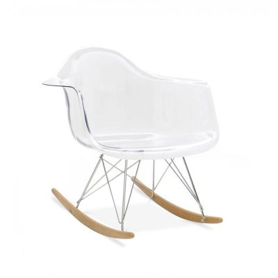 Portrait charles et ray eames synergie d co for Chaise bascule transparente