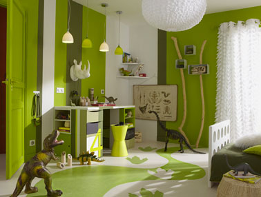 voyez la vie en vert du dans ma deco - Chambre Marron Et Vert