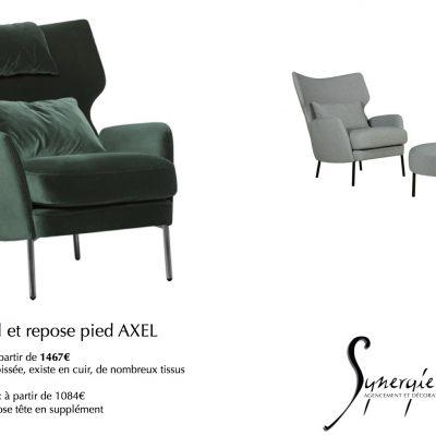 Axel, la version fauteuil du canapé vu précédemment, tout en confort lui aussi...