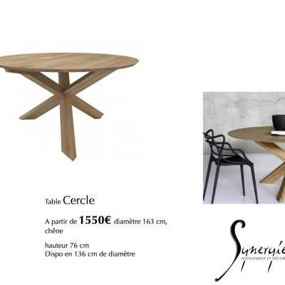 Table Cercle