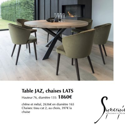 Table Jaz chaises Lats