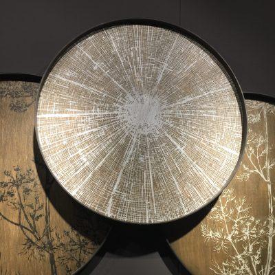 Plateau bois, à suspendre ou à poser en table basse, sur une structure métal