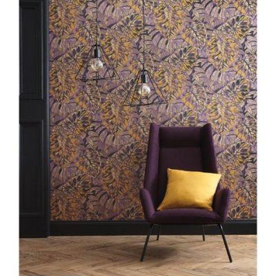 casadeco papier peint panama violet