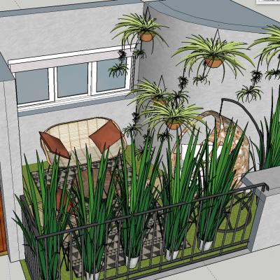 Une terrasse en 3D pour un bel appartement