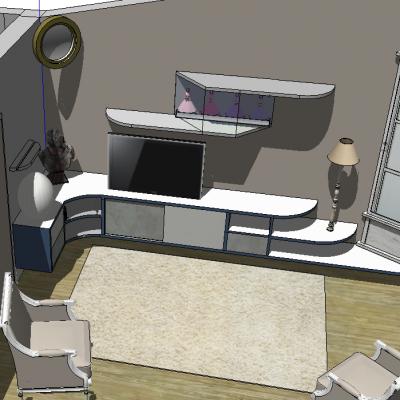 Meuble TV projet 3D