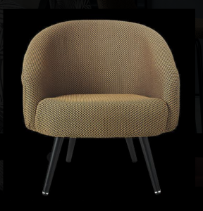 tissu fauteuil, rond