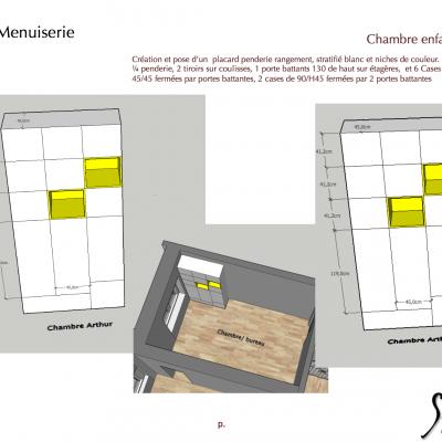 Plan à destination des entreprises, pour conception meubles sur mesure