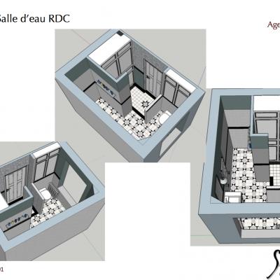 Plan d'agencement salle de bain