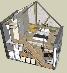 visuel 3D, Décoration intérieure, agencement, Shopping list déco, Décoration intérieur 78, home staging 78, Plans 3D