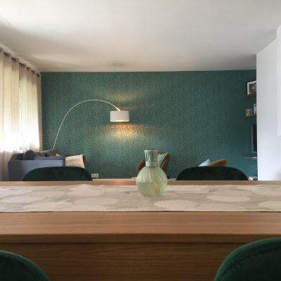 La salle à manger et la salon