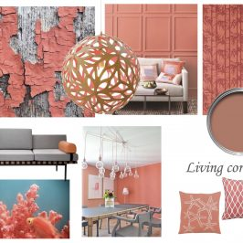 moodboard déco corail