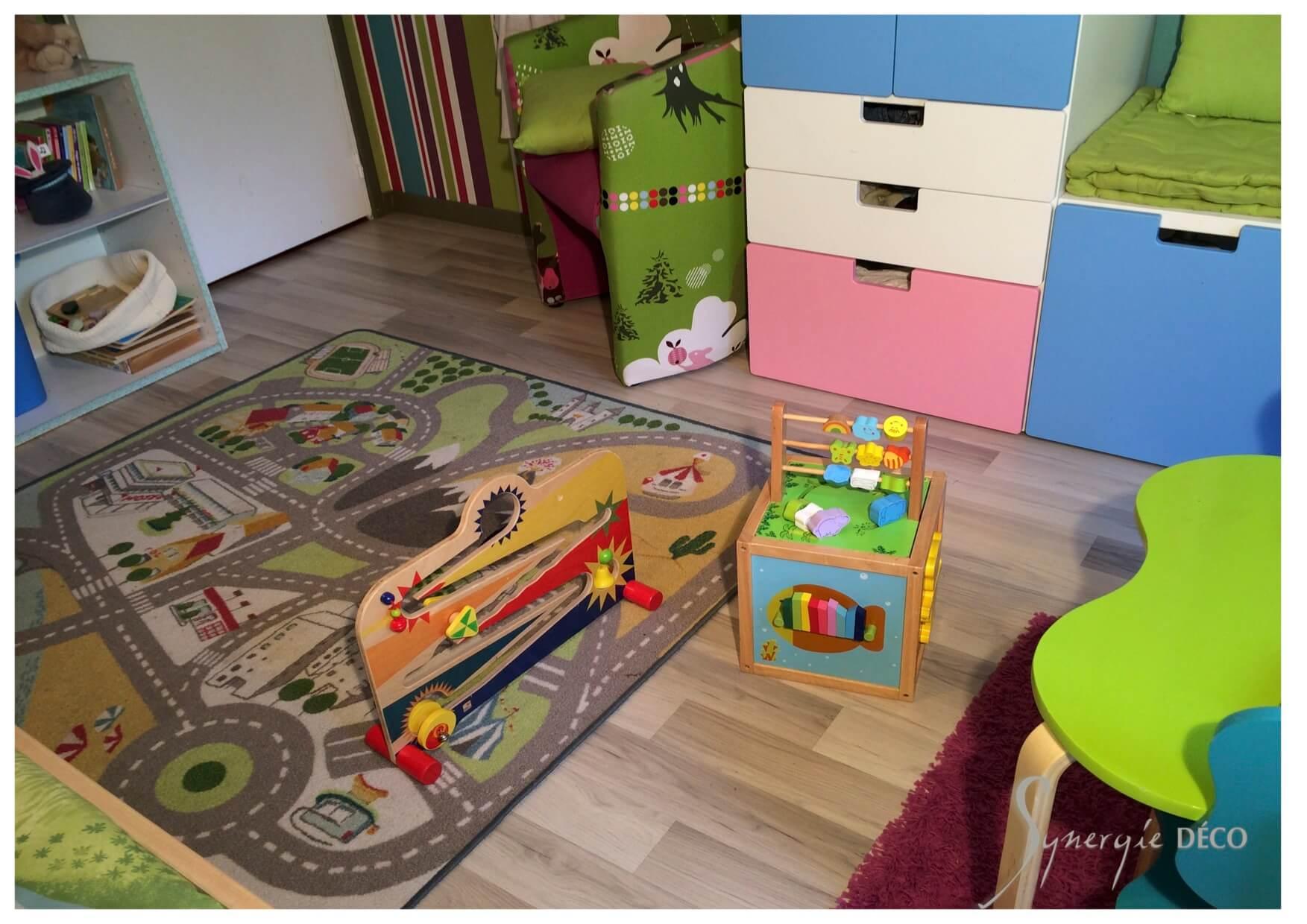 Une chambre d\'enfants mixte vitaminée - Synergie Deco
