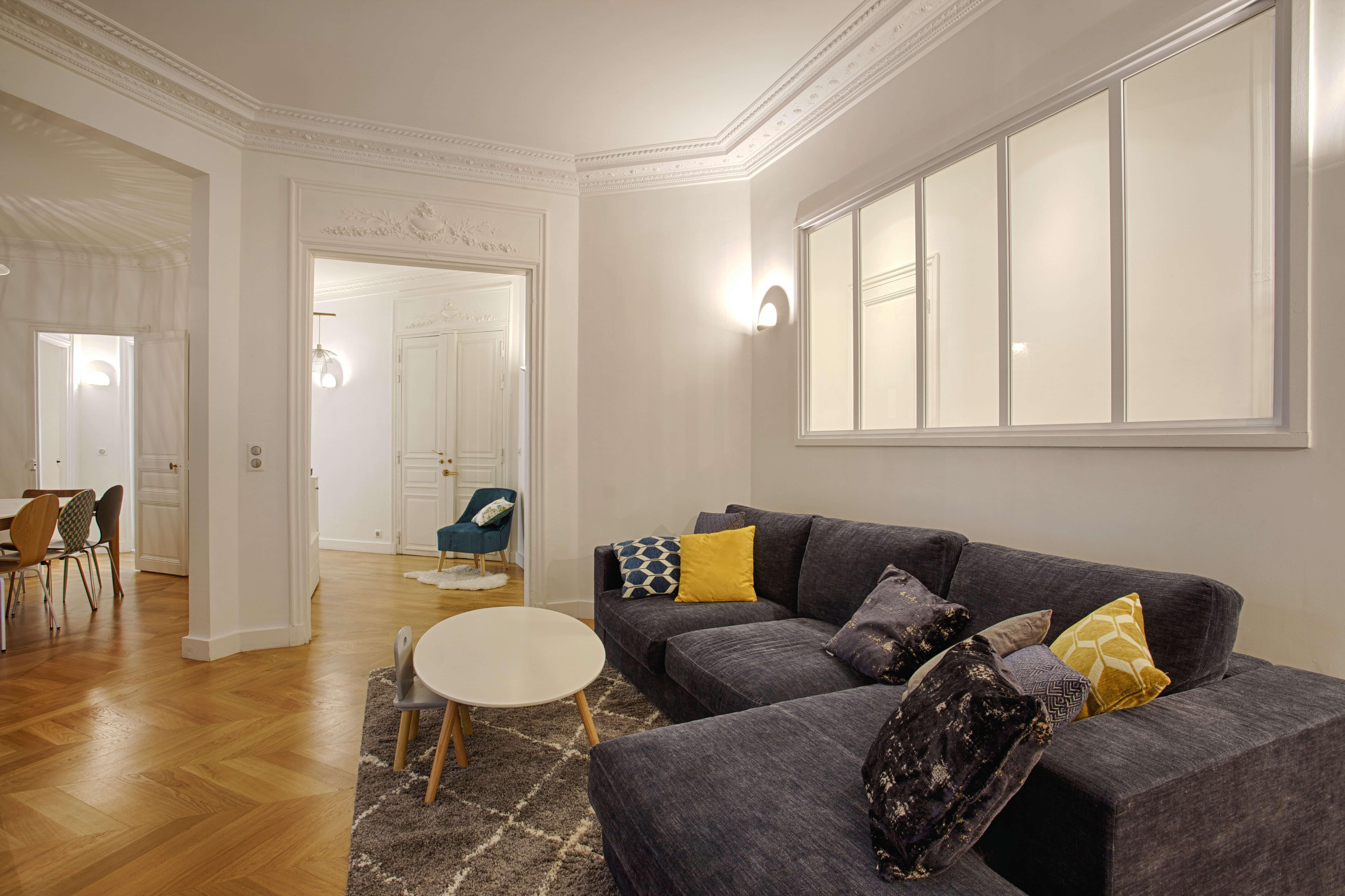 Decoration Appartement Haussmannien un 5 pièces haussmanien familial fait peau neuve - synergie deco
