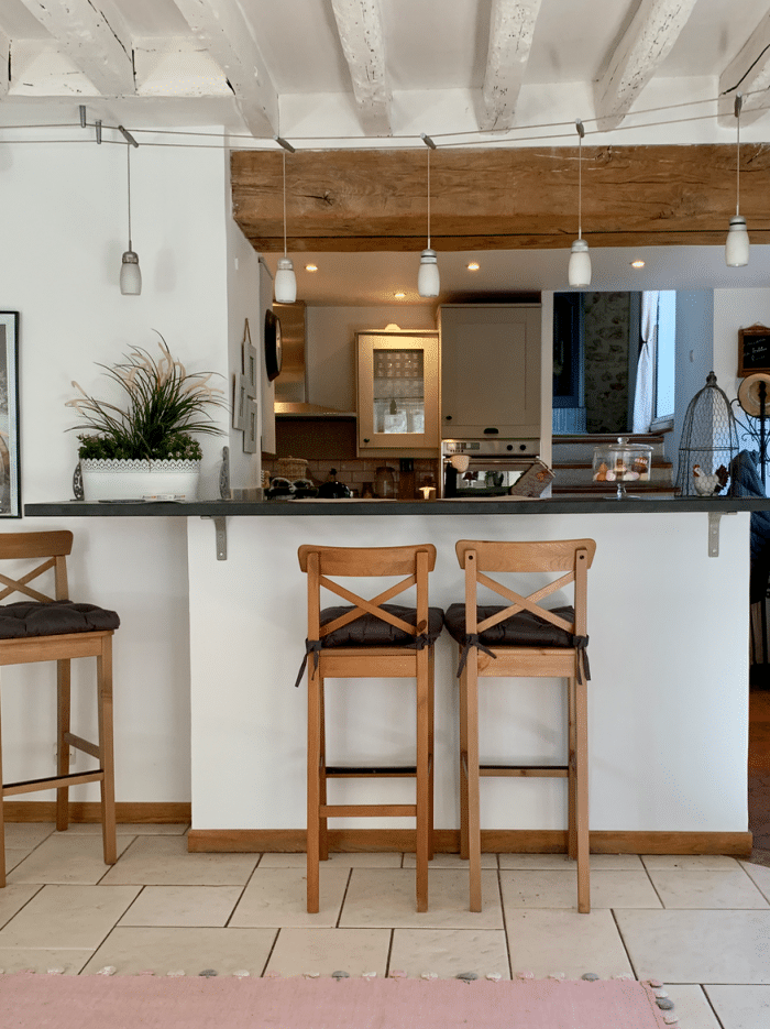 cuisine grise repeinte home staging maison pierre